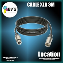 Location cable XLR 3m