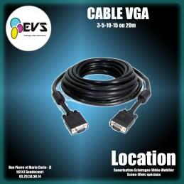 Location CABLE VGA