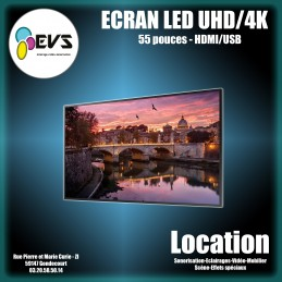 "ECRAN LED 55"" UHD 4K"