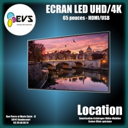 "ECRAN LED 65"" UHD 4K"