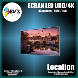 "ECRAN LED 43"" UHD 4K"