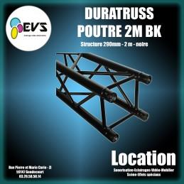 DURATRUSS - POUTRE 2M NOIRE